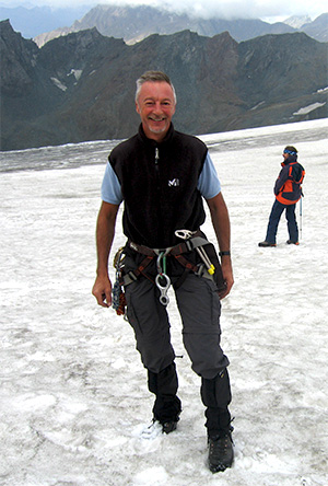 doctor wim hullaert in the Austrian Alps